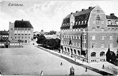 Vy över Fristadstorget med Saluhallen och Telegraf till vänster, samt Sparbanken till höger. Louvre, Museum, Building, Travel, Velvet, Viajes, Buildings, Destinations, Traveling