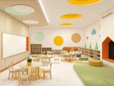 Kindergarten Solid Wood Furniture Kindergarten Interior, Kindergarten Design, Kindergarten Classroom, Preschool Furniture, Preschool Rooms, Kids Furniture, Daycare Design, Classroom Design, School Design