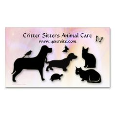 Critter Sitter Animal Care Business Cards