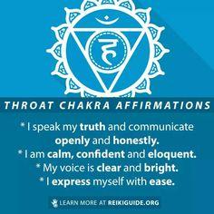 Chakra Meditation, Mindfulness Meditation, Positive Attitude, Positive Vibes, Throat Chakra Healing, Purpose Quotes, Chakra Affirmations, Subconscious Mind, Spiritual Awakening