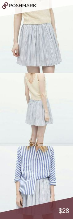 Zara Striped Skirt New condition! Removed tags but never worn Zara Skirts
