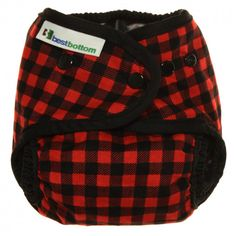 Best Bottom Diapers Red Plaid.  Limited Edition!