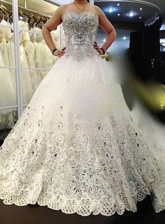 Wholesale Luxurious Off-the-shoulder Ball Gown Rhinestone Crystal ...