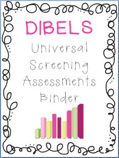 RTI Universal Screening Assessments Binder Set: AIMSweb or DIBELS - Jen Jones-Hello Literacy - TeachersPayTeachers.com