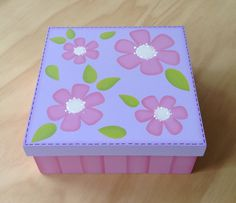 Dollar Store Crafts, Dollar Stores, Painted Boxes, Wooden Art, Storage Boxes, Plastic Canvas, Abstract, Diy, Painting