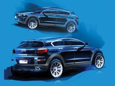 Qoros 3 City SUV - Preview Design Sketches
