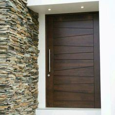 Solid Wood Doors - On Request - haus garteneingang - Door Design Modern Wooden Doors, Wooden Main Door Design, Modern Front Door, Wooden Front Doors, The Doors, Front Entry, Entry Doors, Panel Doors, Wood Doors