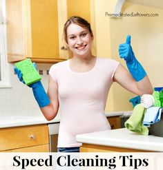 10 Speed Cleaning tips and tricks to help you quickly and easily clean your house. These speed cleaning tips will also help you maintain a tidy home. Speed Cleaning, Cleaning Hacks, Princess Jewelry, Keep Jewelry, Sparkle, Tips, Advice, Cleaning Tips, Counseling