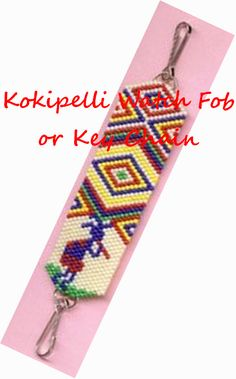 Kokipelli Watch Fob or Key Chain Full Color Graph or Chart | Bead-Patterns