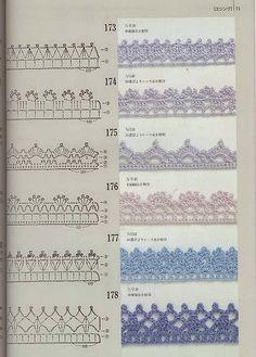 #Crochet Edgings with Diagrams