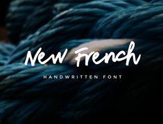 New French Free Font #freebies #FridayFreebie #FreebieFriday #freefonts #CommercialFree #typeface #scriptfonts #sansserif #handwritten