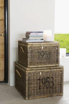 Rustic Rattan Cobblers Trunk 60 x 60 cm Maison   Manden   Jolijt