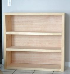 Bookcases make the perfect beginner build. Everything is nice and square and even, so you don't need to worry about too many things going wrong. *PLUS* 17 Simple Furniture Building Plans for Beginners