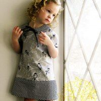 Geometric dress by shaffer-sisters.blogspot.com for #ChallengeCreate Fabric Swap Edition