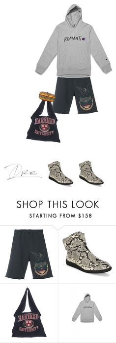 """""""Broke A$$ College Student"""" by stylinwitdre ❤ liked on Polyvore featuring Yeezy by Kanye West, Maison Margiela, Wood Wood, men's fashion and menswear"""