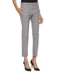 Skinny Tailored Ankle Pants, Heather Gray by Halston Heritage at Neiman Marcus.