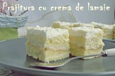 Reteta Desert prajitura cu crema de lamaie Romanian Desserts, Romanian Food, My Recipes, Dessert Recipes, Cooking Recipes, Good Food, Yummy Food, Sweets Cake, Cream Cake