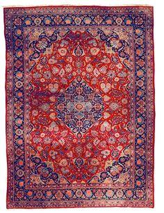 Kashan Rugs: Kashan Carpet C. 1930 Lot 75