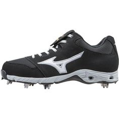 official photos 04f54 b8ef3 Mizuno 9-Spike Advanced Pro Elite Baseball Cleat, Size 10.5 In Color Black- White (9000)