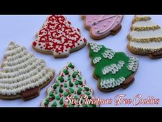 Six Different Ways To Decorate Christmas Tree Cookies. Link download: http://www.getlinkyoutube.com/watch?v=2wzubIl0y1Y