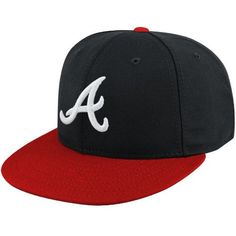 * Youth Atlanta Braves New Era Navy/Red AC On-Field 59FIFTY Fitted Hat, $25.99