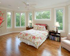 Elegant House Design Interior and Exterior Furniture : Exquisite Bedroom Floral Bedspread Wooden Sideboard Private Residence