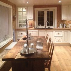 Rustic kitchen table would be nice at the cottage.