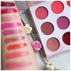 Lipstick swatches from the @bhcosmetics shaaanxo palette pic by @amandasbeautypage #shaaanxo #shaaanxopalette #bhcosmetics