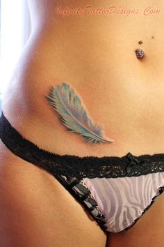 Infinity Tattoo Designs - http://infinitytattoodesigns.com/feather-tattoo/