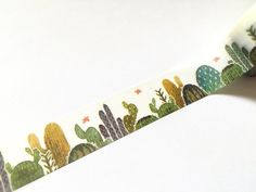 Cute cactus washi tape. A million different uses rolled into a tiny roll of decorative tape.