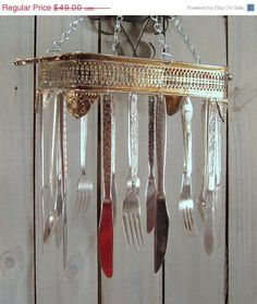 Silverware Wind Chime made from Vintage Silverware