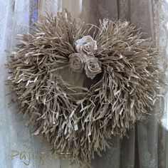 Wreath handicrafted of Finnish artisan paper cord. Valentine Day Wreaths, Christmas Wreaths, Christmas Decorations, Holiday Decor, Xmas, How To Purl Knit, Wood Creations, Scandinavian Christmas, How To Make Wreaths