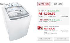 Lavadora de Roupas Electrolux 15kg Blue Touch Ultra Clean LBU15 Branco << R$ 125991 >>