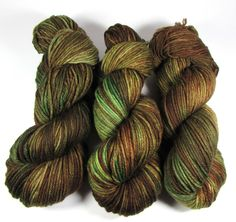 Camo Hand Dyed Yarn Worsted, Superwash Merino Wool, Hand Painted, Brown, Green, Variegated, Ready to Ship by DyeIsCastYarns on Etsy https://www.etsy.com/listing/461555434/camo-hand-dyed-yarn-worsted-superwash