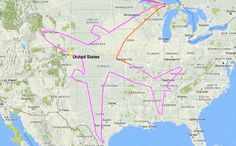 A Boeing Dreamliner pilot spent 18 hours drawing a giant plane over the U.S.