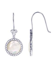 Loving this Mother-of-Pearl & Sterling Silver Round Drop Earring on #zulily…