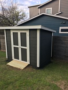 my shed! color: behr carbon copy exterior flat