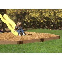Here's the easy way to add a border to your backyard play area. This 16 ft. Playground Border Kit features a rugged, frost-, rot-, moisture- and warp-resistant design for reliable year-round use. Installs in a variety of shapes, sizes, levels, angles and configurations to accommodate a variety of playground and play set sizes