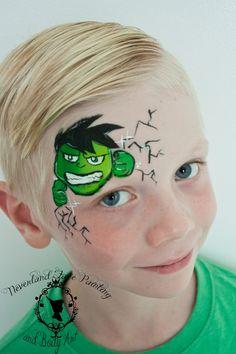hulk smash face paint