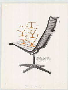 Irving Harper of the Office of George Nelson designed this 1960 advertisement for the Eames Aluminum Group by Herman Miller. @hermanmiller