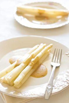 White Asparagus with Mustard Vinaigrette