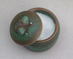 Stoneware Salt Box