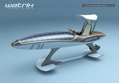 The Watrix is an electric personal watercraft that also doubles as a hydrofoil. Yacht Design, Boat Design, Canoe Trip, Canoe And Kayak, Hydrofoil Surfboard, Camper Boat, Amphibious Aircraft, Sport Boats, Yacht Boat