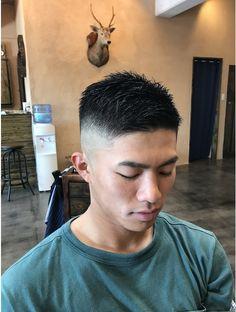 Crew Cut Haircut, Short Fade Haircut, Haircuts Straight Hair, Short Hair Cuts, Military Haircuts Men, Haircuts For Men, Asian Men Short Hairstyle, Beckham Hair, Buzz Cut Hairstyles
