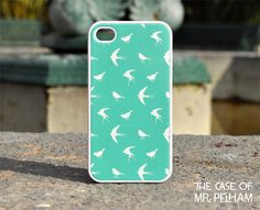 iPhone Case  Bird Pattern on Mint Green by TheCaseOfMrPelham, $16.99