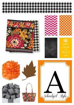 Autumn Classroom Inspiration Board Classroom Decor and organization by Schoolgirl Style www.schoolgirlstyle.com