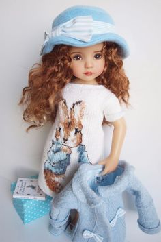 "Peter Rabbit Ensemble Outfit for dolls Little Darling Effner 13"" Beatrix Potter #DiannaEffner"