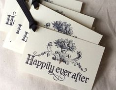 6 Gold Glitter Happily Ever After Gift Tags by BethAndOlivia