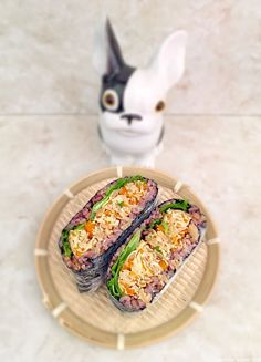 Onigirazu #japon #cuisine #cuisinejaponaise Onigirazu, Cantaloupe, Fruit, Food, Japanese Kitchen, Essen, Meals, Yemek, Eten