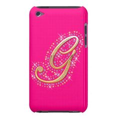 Pink iPod Touch Case with Initial G